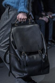 Gucci, leather rucksacks