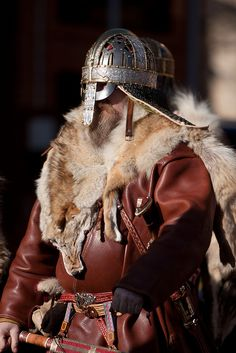 Replica of Vendel Culture Valsgarde 6 helmet -Jorvik Viking Festival by jimoftheday, via Flickr
