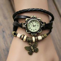 Vinrage genuine leather wrist watch, beautiful