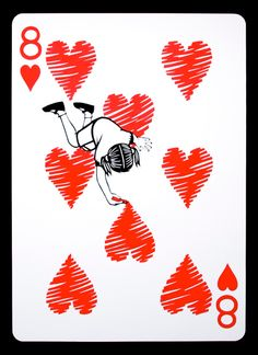 Emmanuel Jose 2ft tall playing cards!  Link to more!