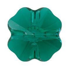 5752 12mm Emerald Swarovski Elements Crystal Clover Bead | Fusion Beads #inspirationinbloom