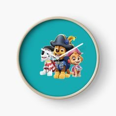 'Paw Patrol fun' Clock by StefaniaAlina Paw Patrol, Finding Yourself, My Arts, Clock, Art Prints, Printed, Awesome, Unique, Dogs