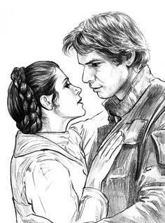 Han and Leia by Jason Palmer alguna vez me sentí como esa pareja combatiendo el lado oscuro ;)