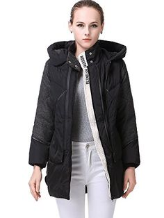 Miya Thickened Hooded Down Jacket Women Long Overcoat For Women Coat Black XLarge * Continue to the product at the image link. Down Parka, Down Coat, Vest Jacket, Rain Jacket, Pea Coats Women, Long Overcoat, Jackets For Women, Clothes For Women, Winter Wear