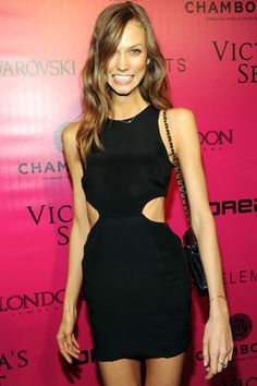 Karlie Kloss! Most people nowadays condemn the emaciated look, but she looks just fine, can't believe how young she is!