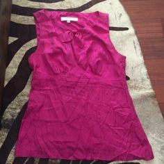 Trina Turk Silk Keyhole Blouse Fits true to size . Very flattering Trina Turk Tops Blouses