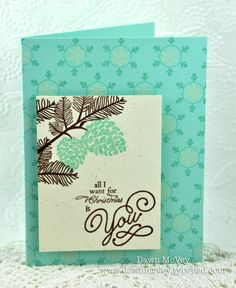 All I Want for Christmas Card by Dawn McVey for Papertrey Ink (October 2012)