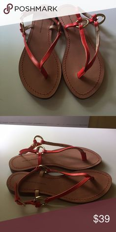 Diane Von Furstenburg Orange sandals Brand new without box Diane von Furstenberg Shoes Sandals