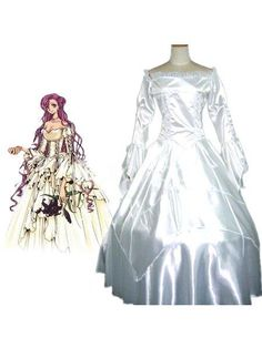 Code Geass Euphemia Cosplay Robe. Make you the same as character in this Code Geass cosplay costume for cosplay show.It comes with body skirt,crinoline.. See More Code Geass Cosplay at http://www.ourgreatshop.com/Code-Geass-Cosplay-C830.aspx