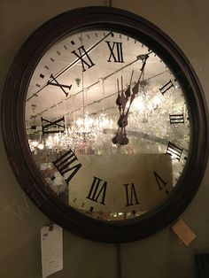 Large French Antiqued Mirrored Clock