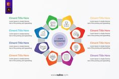 Polygonal Circle Chart Templates with 8 Parts best infographic vectors design elements to help you with the presentation of your infographic, very easy to customize. Take a closer look to get started! Type Setting, Vector Design, Lorem Ipsum, Get Started, Infographics, Design Elements, Closer, Vectors, Presentation