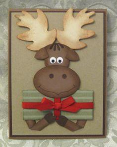 Christmas Present Moose Card...