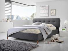 Simplu dar versatil, patul Emma Dark Grey se integreaza perfect in dormitorul dumneavoastra oferindu-i o nota de eleganta.  Interiorul casei dumneavoastra va fi admirat de cei care indragesc liniile bine definite, simplitatea formelor dar si functionalitatea acestora. Valentino, Shops, Dark Grey, Bedroom Decor, Interior Design, Inspiration, Furniture, Home Decor, Construction