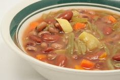 Vegetable Bean Soup - A Daniel Fast favorite. www.ultimatedanielfast.com