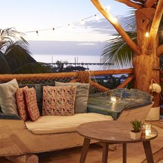 Rooftop bar at Hotelito Casa Las Tortugas, Isla Holbox, Mexico. Coastalliving.com