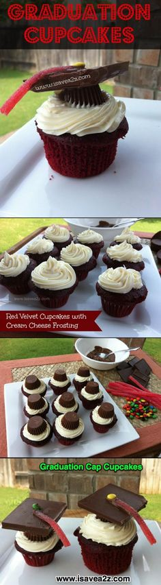 Red Velvet Grad Cupcakes!!! Will you make these for me @jgray0205 ?!