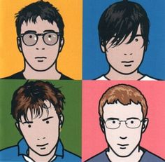 Blur: The Best Of. The cover is by artist Julian Opie. The painting of this Blur album can be found at the National Portrait Gallery in London, England. The album's cover bears some similarity to that of Queen's 1982 Hot Space. Iconic Album Covers, Music Album Covers, Music Albums, Music Music, Indie Music, Live Music, Daft Punk, Blur Band, James Rosenquist
