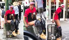 DUDE CAUGHT TAKING A CRAP IN PUBLIC TRASH CAN - Blooper News - News by you for you!™