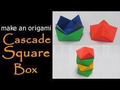 @ Make an Origami Cascade Square Box - YouTube