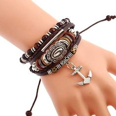 0962e5b8dc04 FLDC Mix Wrap Multilayer Hand Woven Bead Bracelet Set Jewelry Leather  Wristbands Bracelets Cuff