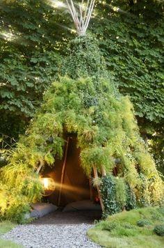 garden teepee <3