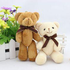 New 14CM 12pcs/lot PP Cotton Bouquets Bear Kid Toys Plush Doll Mini Small Teddy Bear Flower for Wedding,Christmas Gift HT3622 #Affiliate