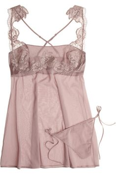 La Perla LP Style stretch-silk georgette chemise and thong - lingerie perfection