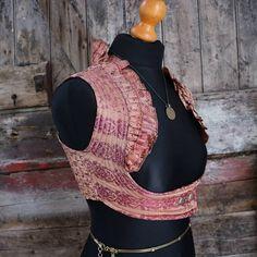 New S-M ROSE GOLD Underbust Alexia Choli ATS Silk Sari