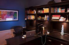 Wooden Dark Office Furniture Interior Design Id430 - Home Office Design Ideas - Home Interior Disigns - Interior Design