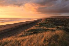 Port Waikato Tuakau Auckland New Zealand (Photo credit to Petr Vysohlid) x. Port Waikato Tuakau Auckland New Zealand (Photo credit to Petr Vysohlid) x Sunset Images, Sunset Pictures, Sunset Captions, Golden Hour Photos, Water Background, Auckland New Zealand, Grass Field, Best Sunset, Aerial View