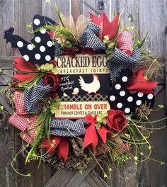Merveilleux Everyday Wreath, All Season Wreath, Door Wreath, Rooster Wreath, Kitchen  Wreathu2026