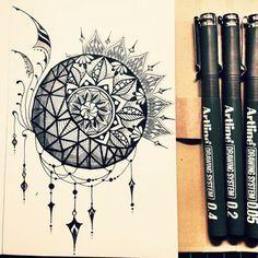 mandala sun moon tattoo - Cerca con Google