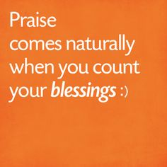 Count your blessings :)