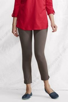 Women's Cotton Spandex Jersey Starfish Crop Legging from Lands' End