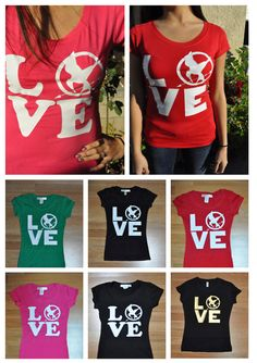 The Hunger Games LOVE symbol -pick a size and color - ($15.95)