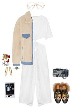 """""""Untitled #353"""" by faridahammouda ❤ liked on Polyvore featuring Christopher Esber, Steve J & Yoni P, Gucci, CHESTERFIELD, Roberto Coin, Rolex and Chanel"""