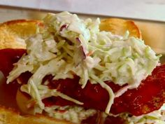 Buffalo Chicken Sandwich with Blue Cheese Slaw