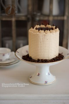 Chocolate Bourbon & Cappuccino Cake