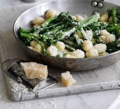 Gnocchi with broccoli & parmesan cream sauce
