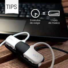 3 minuty ładowania baterii = 1 godzina słuchania muzyki!