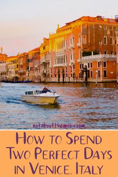 Make the most of your time in Venice with my itinerary! From St. Mark's Square to the Grand Canal, fabulous architecture, a romantic gondola ride and trips to Murano and Burano, you can do lots of things in Venice! Europe Travel Tips, Travel Guides, Travel Destinations, Venice Travel Guide, Travelling Europe, Travel Articles, Travel Deals, Travel Advice, Travel Usa