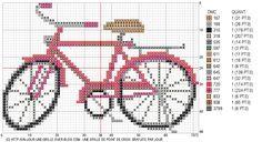 09/02/11 : grille de point de croix gratuite - Vélo - un jour, une grille