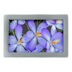 Hellblaue Blumen Gürtelschnalle