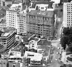 Vista aérea do Edifício Garcez - 1954
