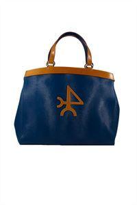 Valecuatro bolso piel apaisado azul