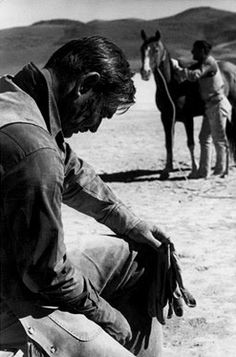 Clark Gable - He insisted on doing most of his own stunts including being dragged on the ground in 106 degree weather on a rope at 30 miles an hour. The trying shoot for this film led to his massive heart attack. That and a 3 pack a day nicotine habit would kill him. MH