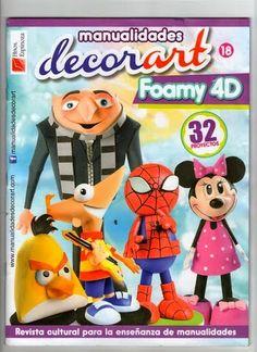 Decorart nº 18 Foam Crafts, Diy And Crafts, Arts And Crafts, Craft Projects, Projects To Try, Sewing Magazines, Inspirations Magazine, 3d Paper, Sugar Art