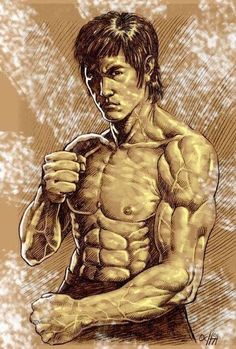 Bruce Lee - The Dragon - Dunway Enterprises Bruce Lee Body, Bruce Lee Art, Bruce Lee Martial Arts, Kung Fu, Bruce Lee Collection, Bruce Lee Pictures, Bruce Lee Family, Jeet Kune Do, Ju Jitsu