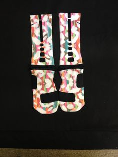 """Bright leopard"" Nike Elite Socks · Sock Insanity · Online Store Powered by Storenvy"
