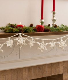 Snowflake Garland Free Crochet Pattern from Red Heart Yarns